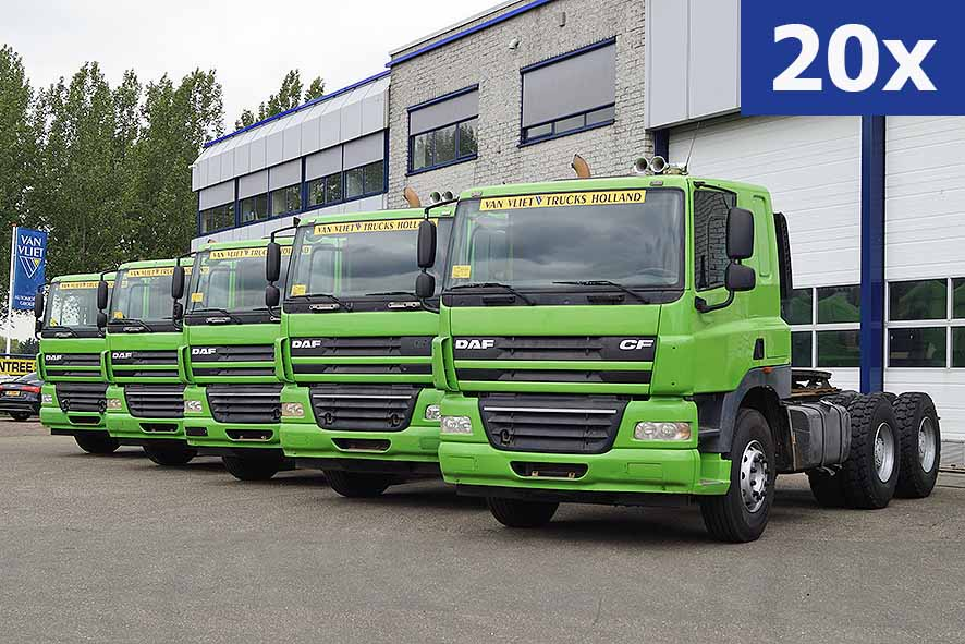 Large stock Daf CF85 used tractor units