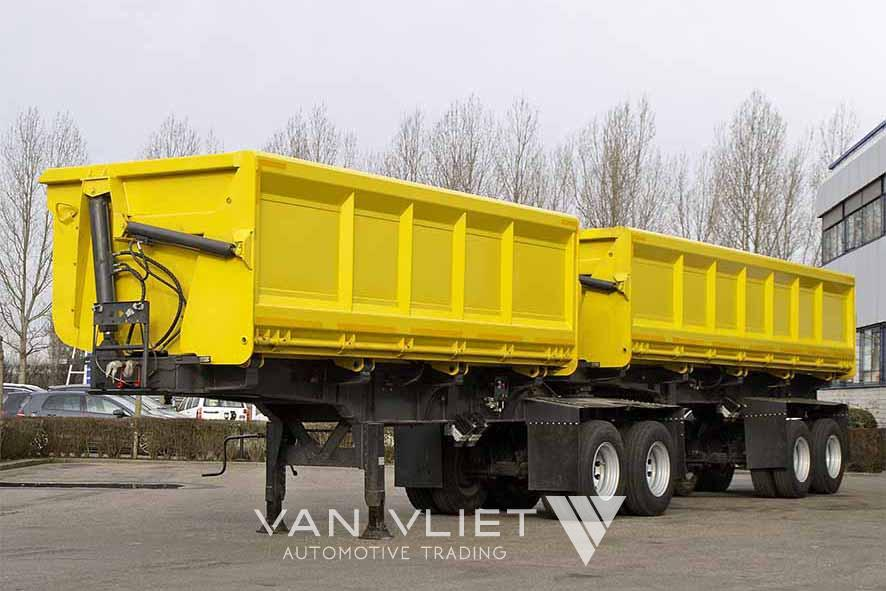 MITRAX B-DOUBLE 4 AXLE SIDE TIPPER TRAILER