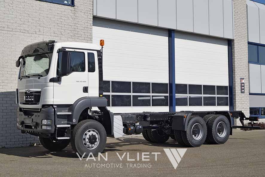 MAN TGS 33.400 BB-WW 6X6 4500mm CHASSIS CABIN