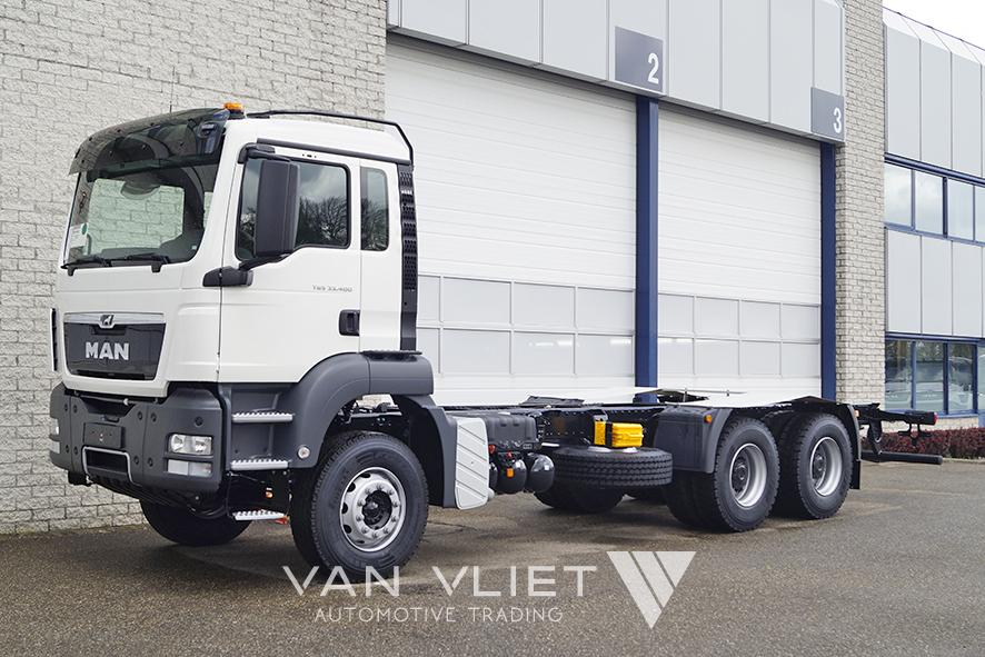 9x MAN TGS 33.400 BB-WW 4500mm CHASSIS CABIN