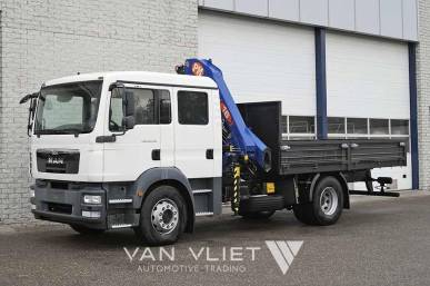 MAN TGM 18.330 BB 4X2 CREW CAB WITH CRANE