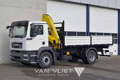 MAN TGM 18.240 BB 4X2 TIPPER TRUCK WITH CRANE