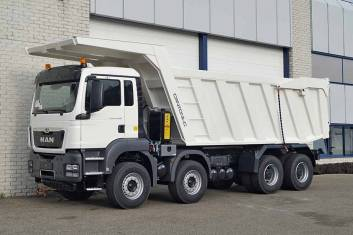 3x MAN TGS 41.400 BB-WW TIPPER TRUCK